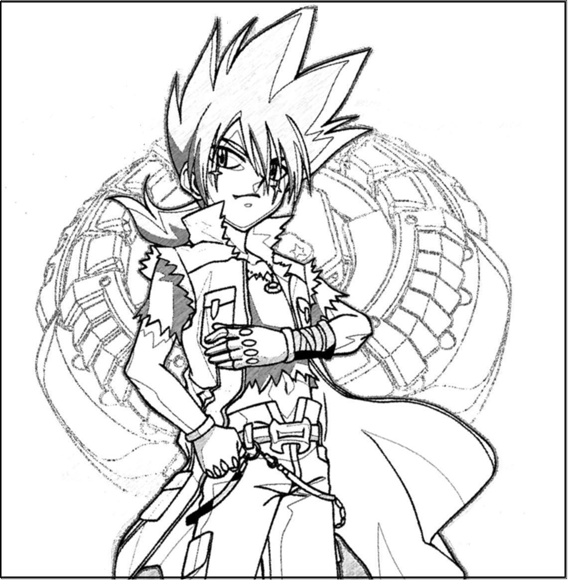 ginga beyblade coloring pages - photo#24